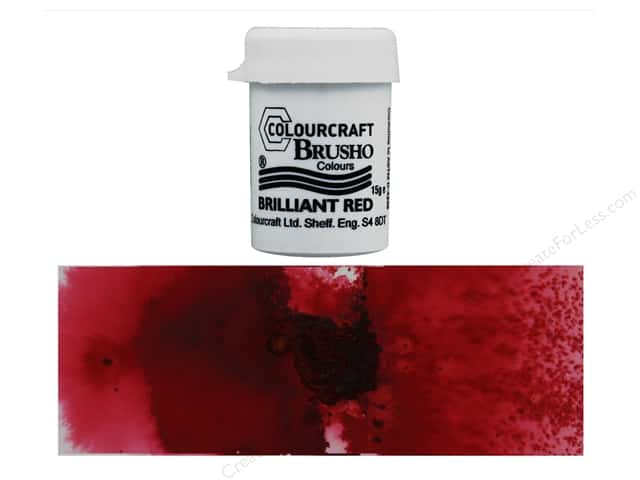 Colourcraft Brusho Crystal Colour 15 gr Brilliant Red