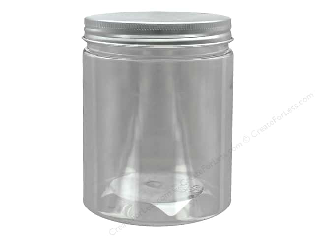 Darice Jar PVC With Aluminum Lid 3.25 in. x 4.25 in. Clear