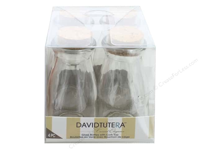 Darice Glass Bottle With Cork 4 in.  4 pc