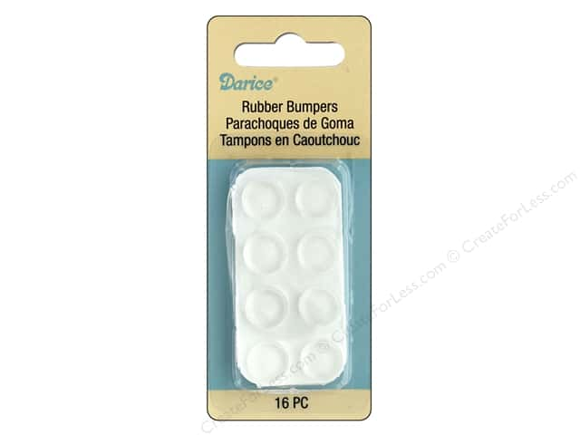Darice Hardware Rubber Bumpers 10 lb 16 pc