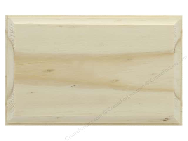 Darice Wood Plaque Unfinished Rectangle 3.4 in. x  5.4 in.