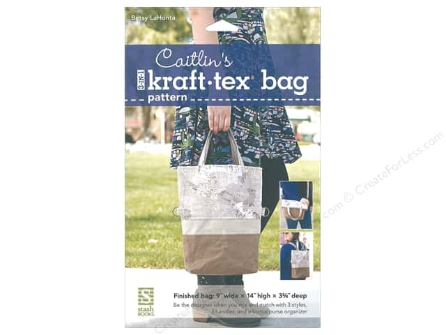 Stash By C&T Caitlin's 3 in 1 Kraft Tex Bag Pattern