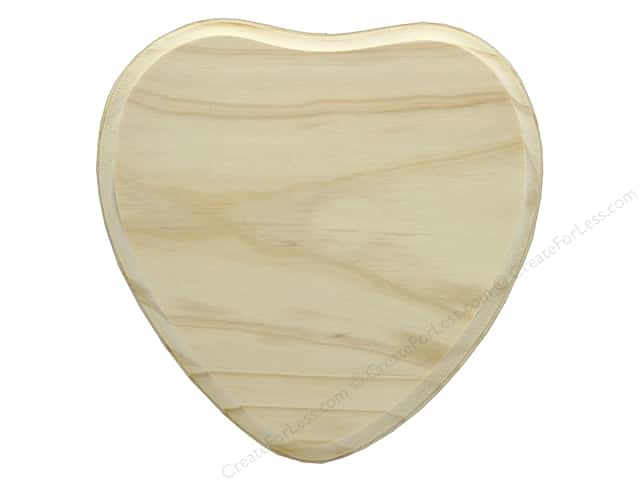 Darice Wood Plaque Unfinished Heart 7 in. x 7 in.
