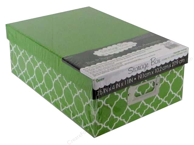 Darice Storage Photo Box 7.5 in. x 4 in. x 11 in.  Modern Green