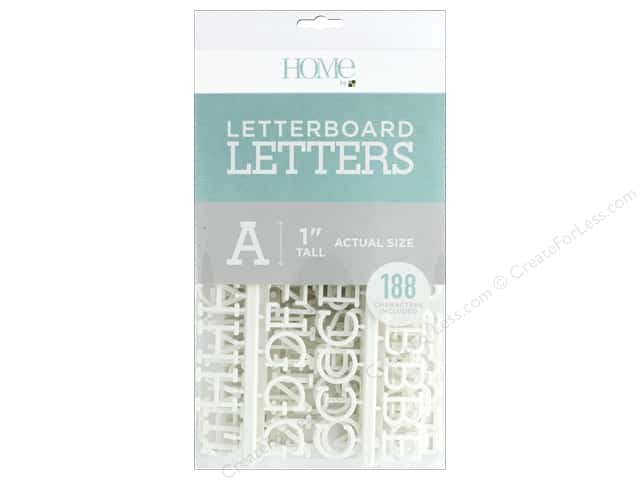 DieCuts With A View Letterboard Letters 1 in.  White 188 pc