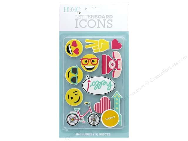 DieCuts With A View With A View Collection Letterboard Icons Happy