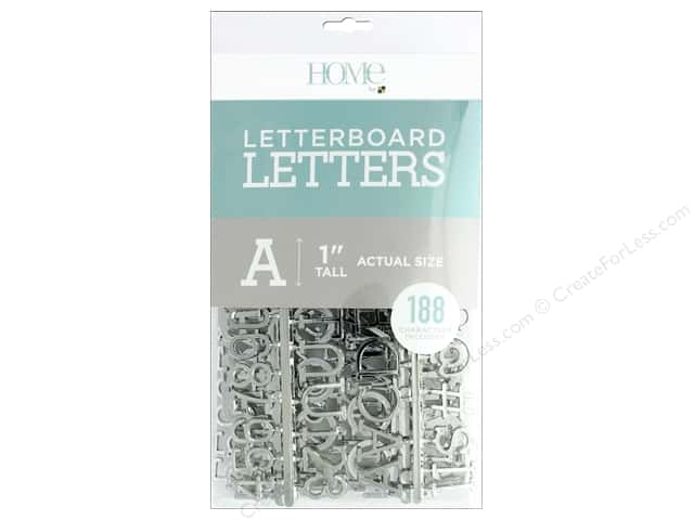 DieCuts With A View Letterboard Letters 1 in. Silver 188 pc