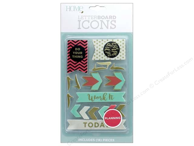 DieCuts With A View With A View Collection Letterboard Icons Planning