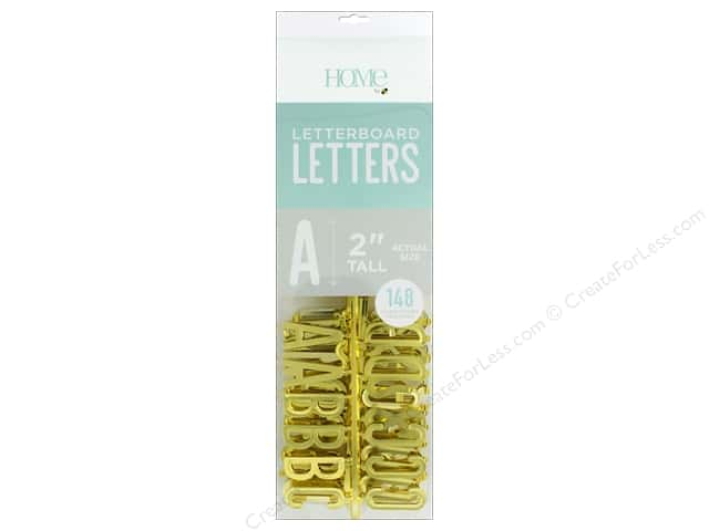 DieCuts With A View Letterboard Letters 2 in.  Gold 148 pc