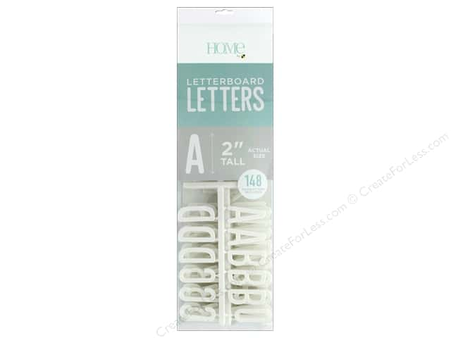 DieCuts With A View Letterboard Letters 2 in. White 148 pc