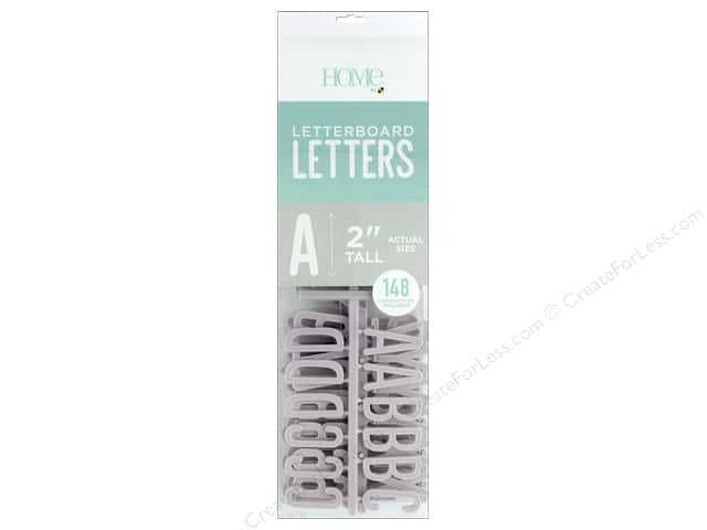 DieCuts With A View Letterboard Letters 2 in. Grey 148 pc
