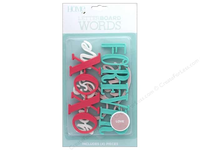 DieCuts With A View With A View Collection Letterboard Words Love