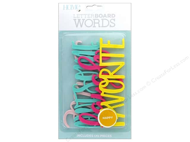 DieCuts With A View With A View Collection Letterboard Words Happy
