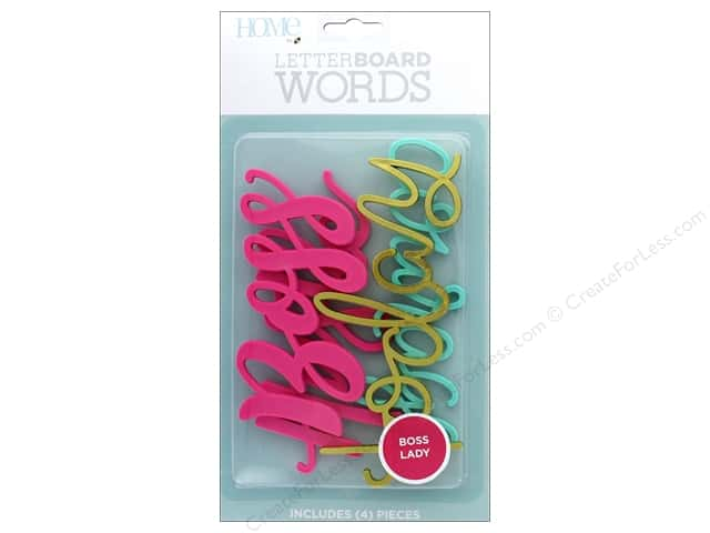 DieCuts With A View With A View Collection Letterboard Words Boss Lady