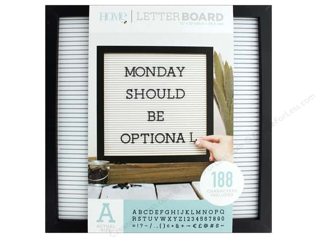 DieCuts With A View Letterboard Frame 12 in. x 12 in. With 1 in. Letters Black/White