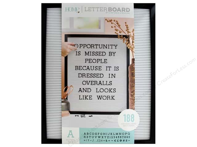 DieCuts With A View Letterboard Frame 16  in. x 20 in. With 1 in.  Letters Black/White