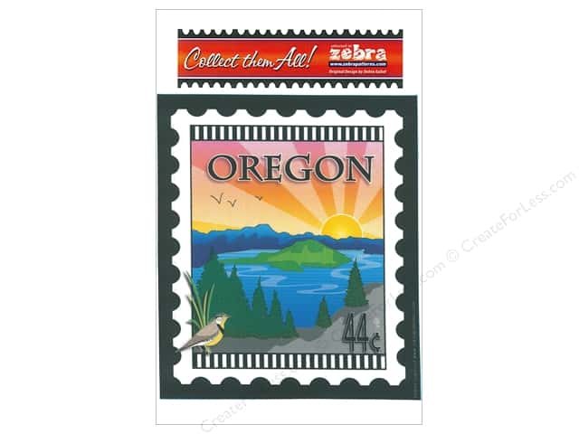 Zebra Patterns Printed Fabric Panel 6 x 7 in. Oregon Stamp