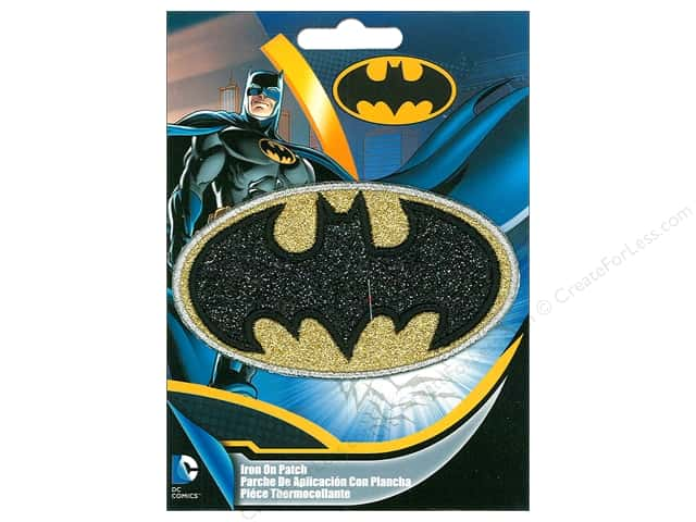 C&D Visionary Applique Batman Logo Silver Glitter