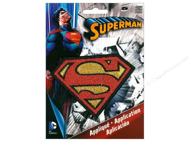 C&D Visionary Applique Superman Logo Glitter