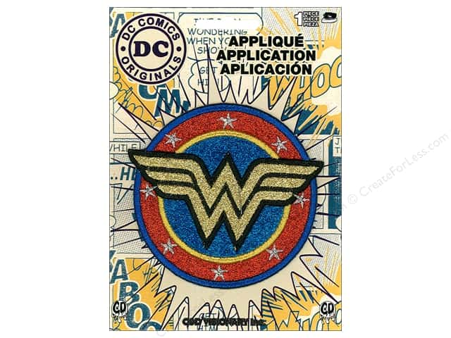 C&D Visionary Applique Wonder Woman Shield Gold