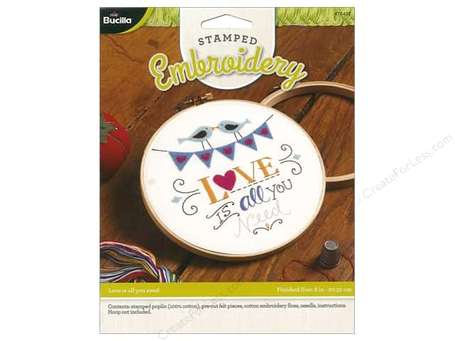 Bucilla Stamped Embroidery Kit Love Is All You Need