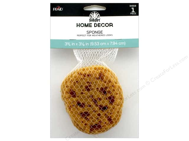 Plaid Folkart Home Decor Sponge 3.75 in.