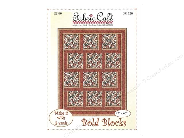 Fabric Cafe Bold Blocks 3 Yard Quilt Pattern