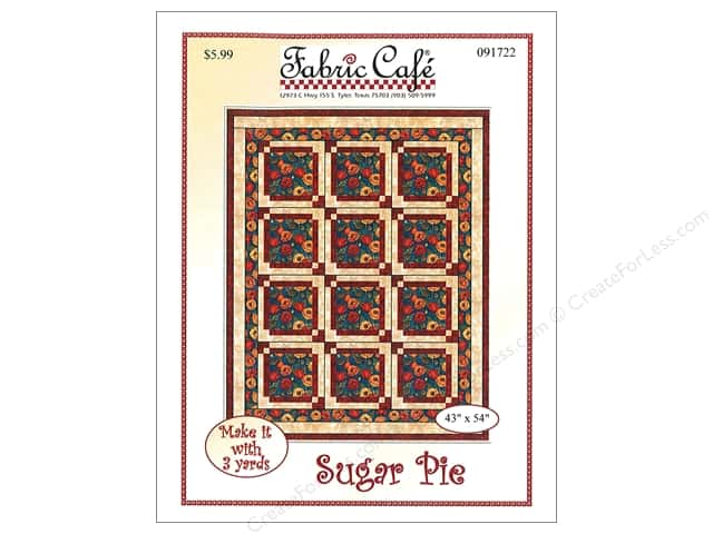 Fabric Cafe Sugar Pie 3 Yard Quilt Pattern