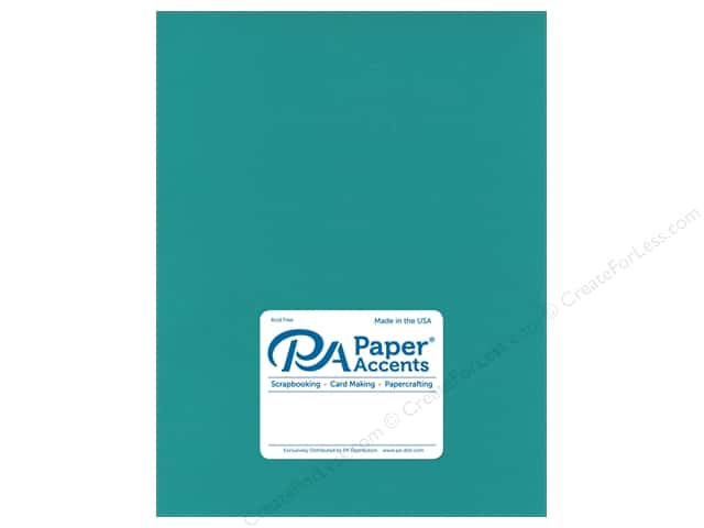Paper Accents Cardstock 8 1/2 x 11 in. Muslin Caribbean Blue (25 sheets)