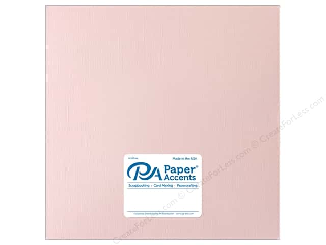 Paper Accents Cardstock 12 in. x 12 in. Muslin 73 lb White Plum (25 sheets)
