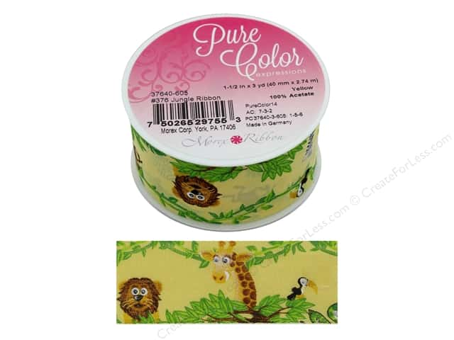 Morex Ribbon Jungle 1.5 in. x 3 yd Yellow