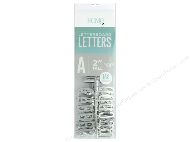 DieCuts With A View Letterboard Letters 2 in. Silver 148 pc