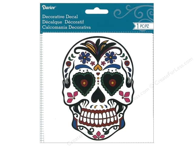 Darice Decorative Decal Day Of The Dead Multi