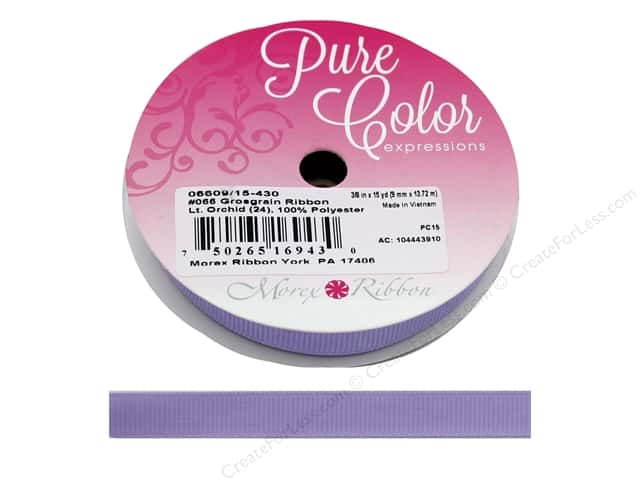 Morex Ribbon Grosgrain 3/8 in. x 15 yd Lt Orchid