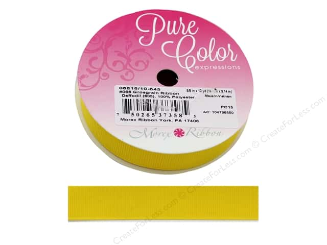 Morex Ribbon Grosgrain 5/8 in. x 10 yd Daffodil