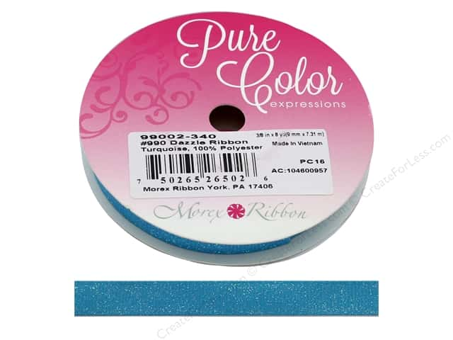 Morex Ribbon Dazzle 3/8 in. x 8 yd Turquoise