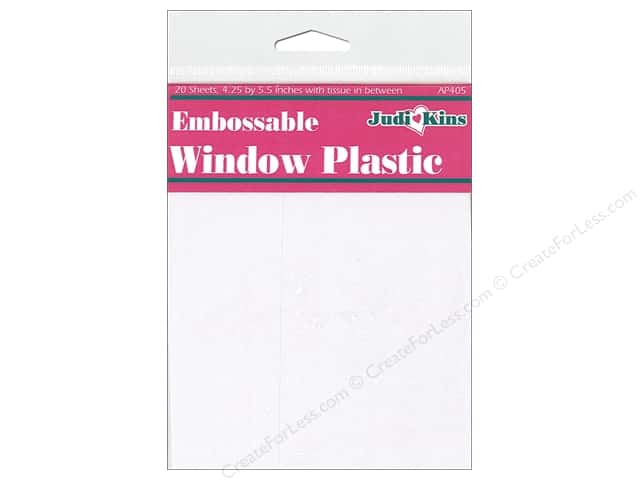 Judikins Window Plastic Embossable 4.25 in. x 5.5 in.  20pc