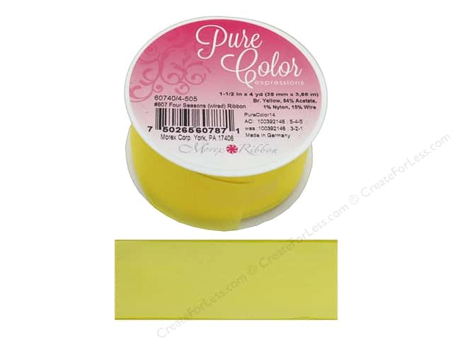 Morex Ribbon Wire Four Season 1.5 in. x 4 yd Bright Yellow