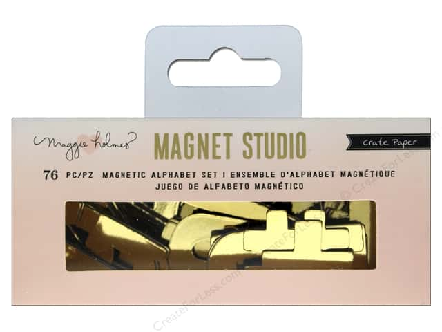 Crate Paper Maggie Holmes Magnet Studio Magnetic Alpha Small Gold