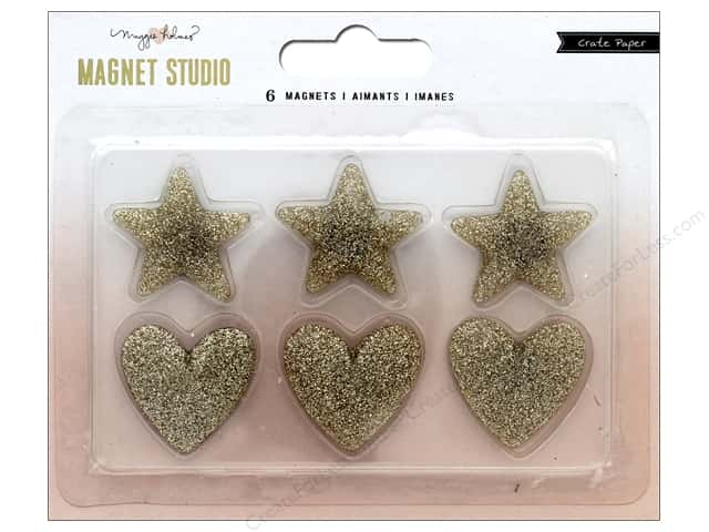 Crate Paper Maggie Holmes Magnet Studio Magnet Glitter Hearts and Stars