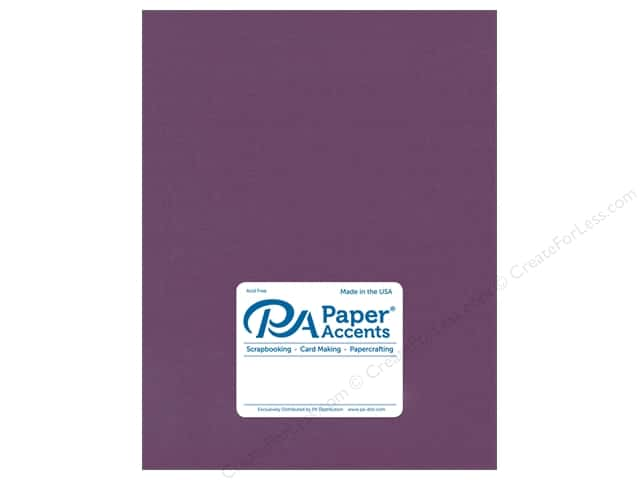 Paper Accents Cardstock 8 1/2 x 11 in. Stash Builder Concord Jam (25 sheets)