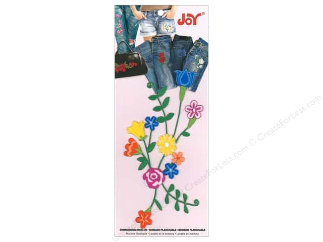 Joy Applique Iron On Blooming Vine Multi