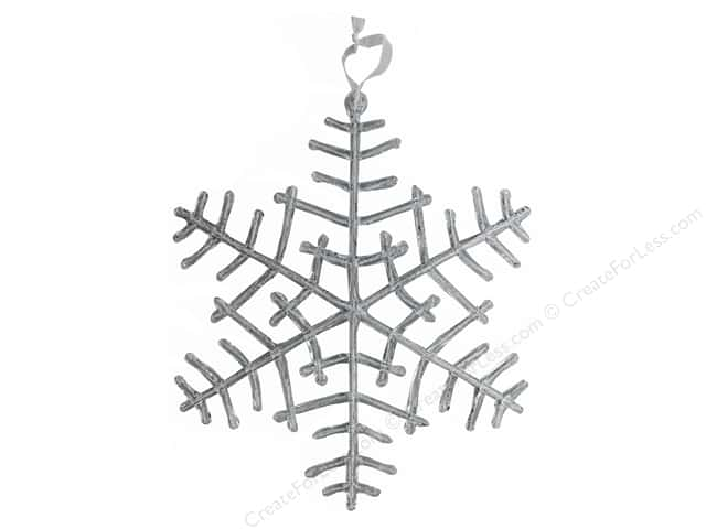 Darice Holiday Hanging Snowflake Plastic 14 in.