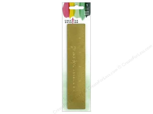 American Crafts Creative Devotion Mini Ruler Gold