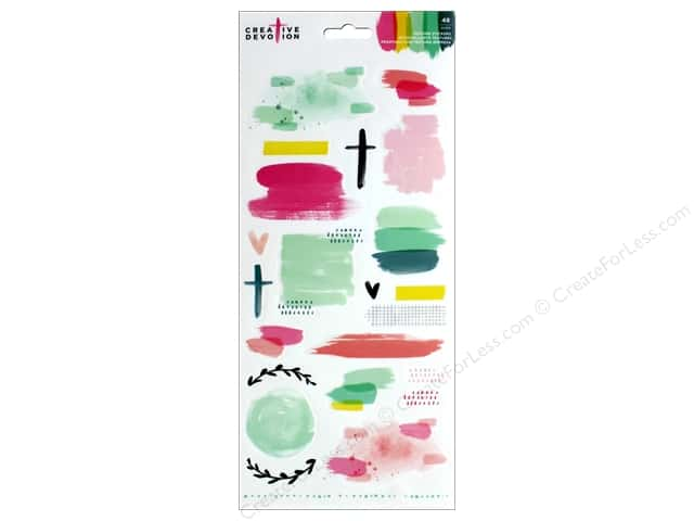 American Crafts Creative Devotion Sticker 6 in. x 12 in. Texture