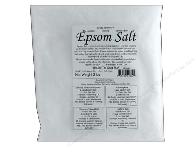 Crafty Bubbles  Epsom Salt 2 lb Bag