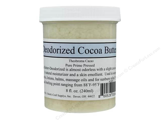 Crafty Bubbles  Deodorized Cocoa Butter 8 oz Jar