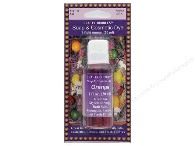 Crafty Bubbles Soap & Cosmetic Dye 1 oz Orange