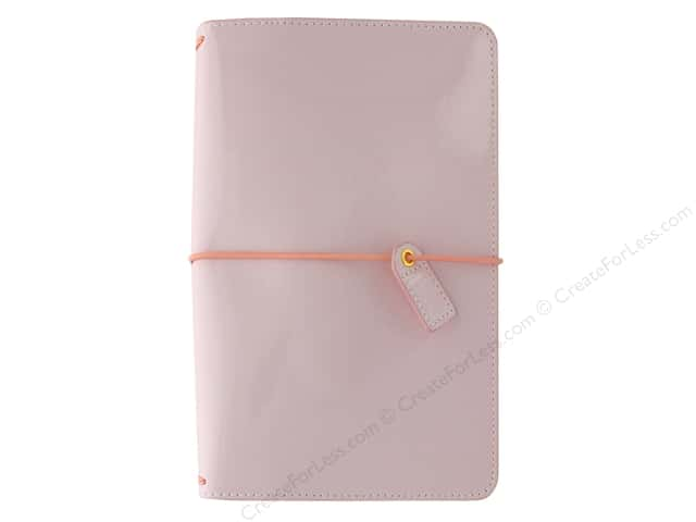 Webster's Pages Color Crush Planner Traveler Patent Petal Pink Book Wrap