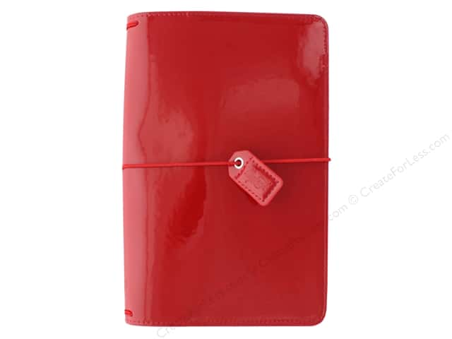 Webster's Pages Color Crush Planner Traveler Patent Red Book Wrap